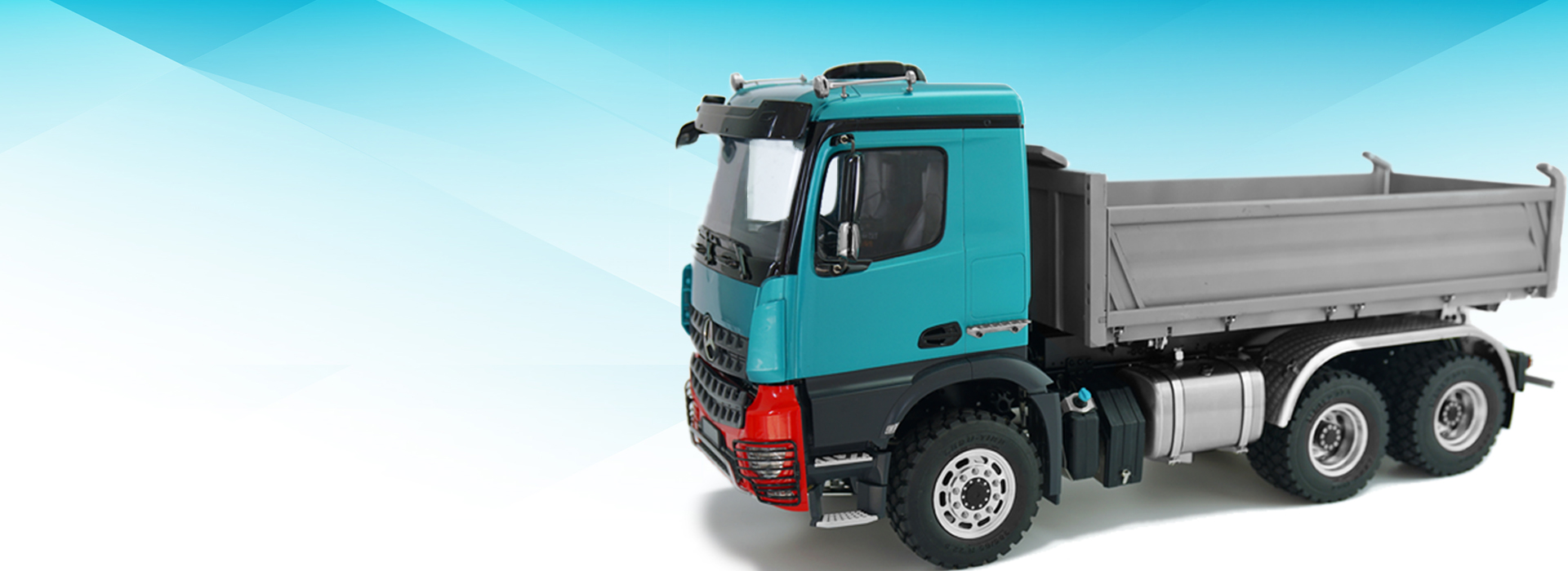1/14 Benz three-way dump truck